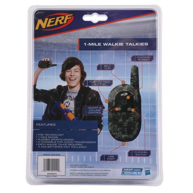 Nerf 1-Mile Rugged Sport Walkie Talkies - 2 Colors