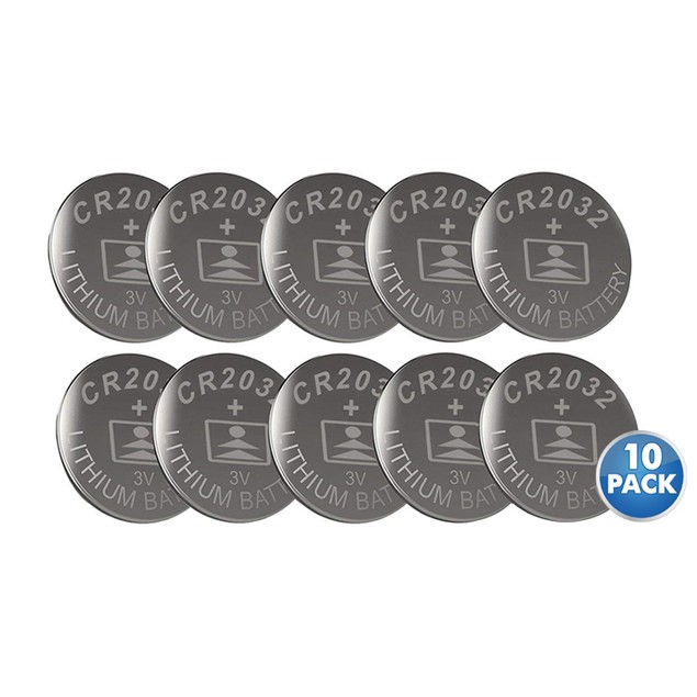 10-Pack LiCB CR2032 3V Lithium Battery For Watches