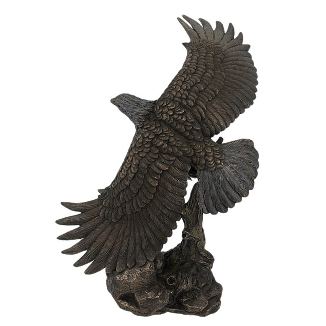 Bronze Finished Soaring Eagle Statue Hand Painted Statues