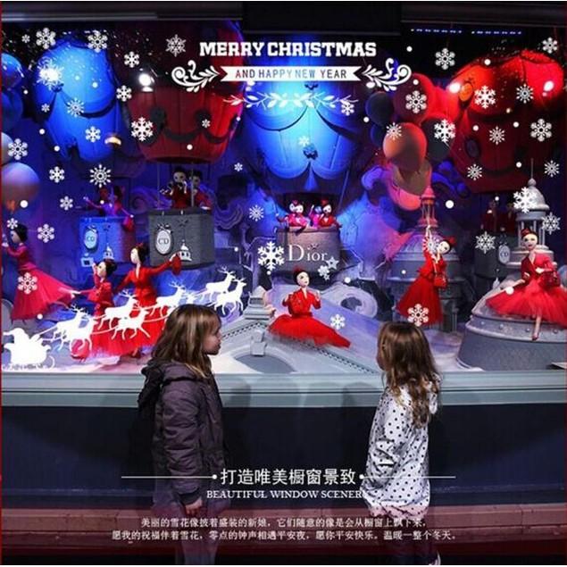 Christmas Snow Christmas Xmas Gift Removable Wall Sticker Art