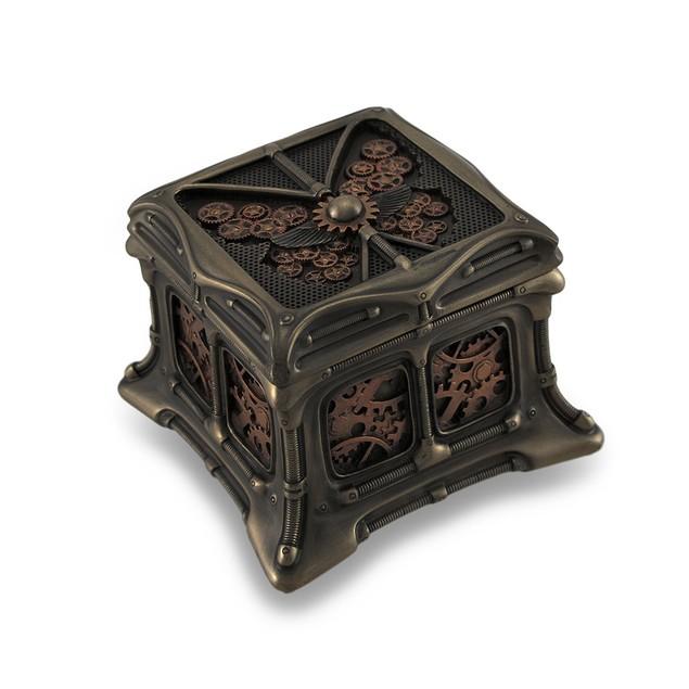 Steampunk Butterfly Bronze Finish Trinket Box Decorative Boxes