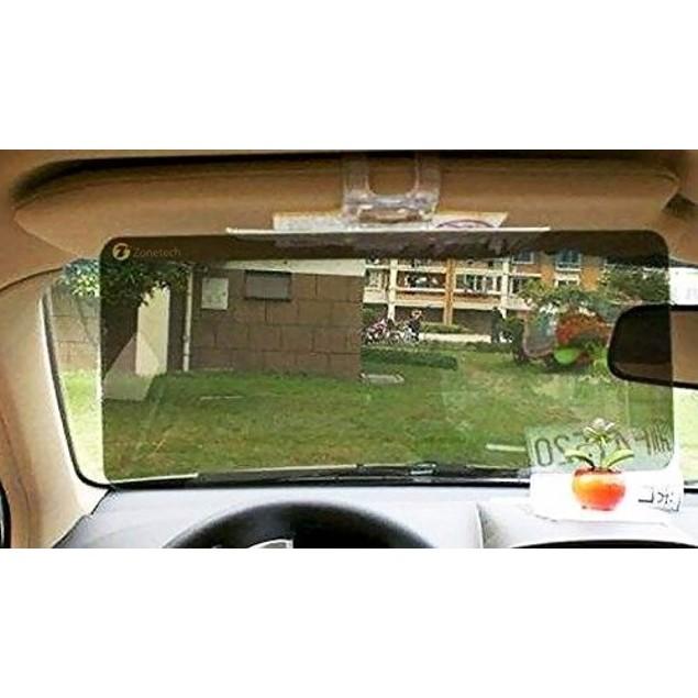 Zone Tech Tinted Clear View Car Sun Visor Extender Extension