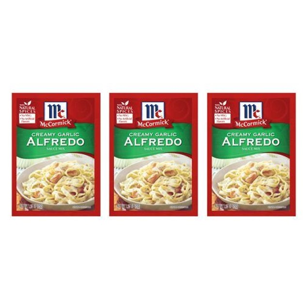 McCormick Creamy Garlic Alfredo Sacue Mix 3 Packet Pack