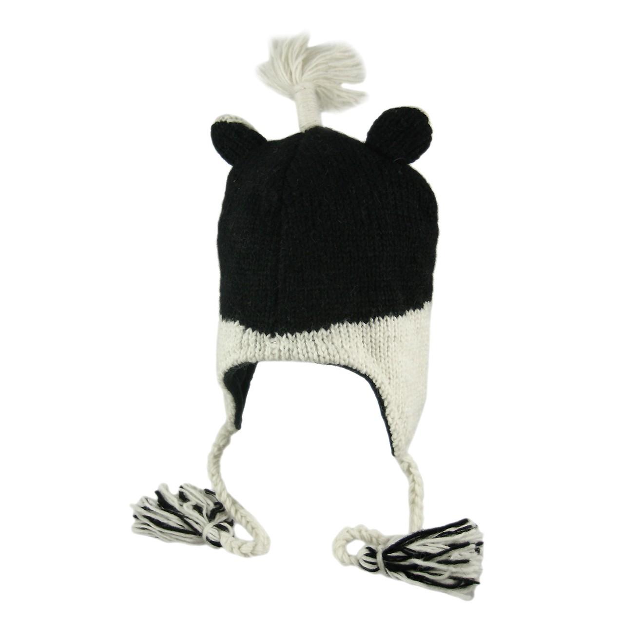 7d27c21f7 Wool Skunk Face Pilot Cap Winter Trooper Adult Mens Cold Weather ...