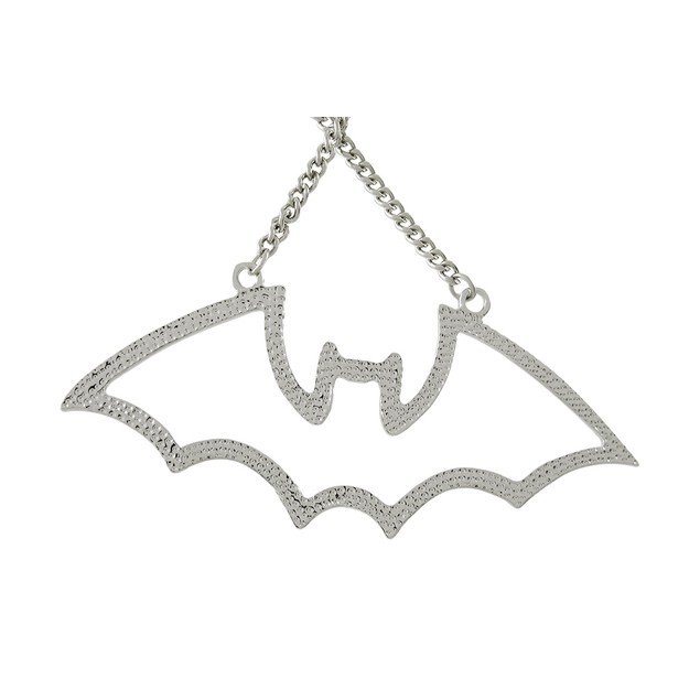 Stainless Steel Cutout Bat Open Work Necklace Chain Necklaces
