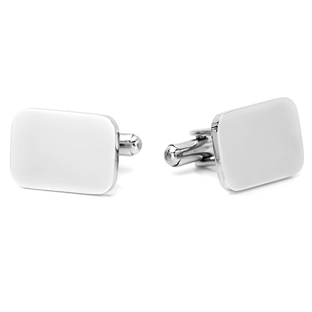 Stainless Steel Classic Rectangular Cufflinks