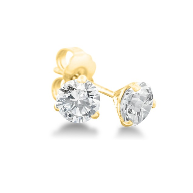 Martini Diamond Stud Earrings 1/3cttw