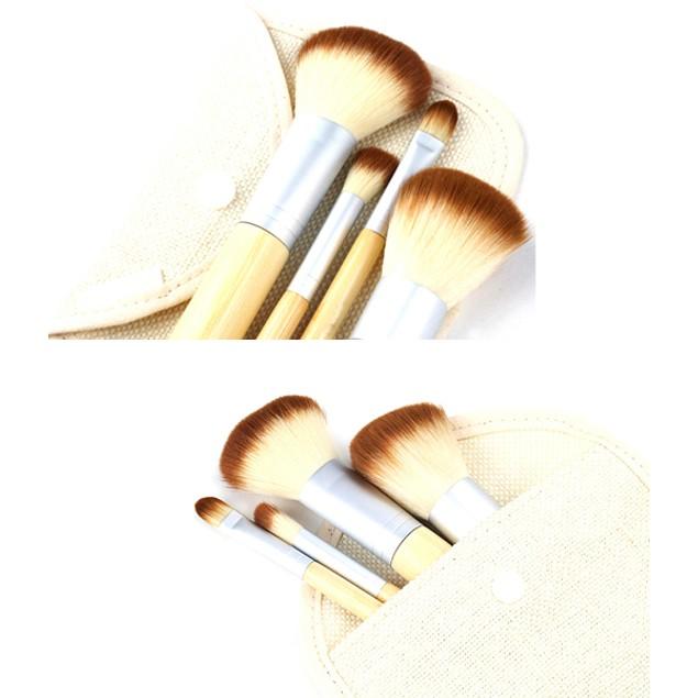 Mini 4 Piece Bamboo Brush Set