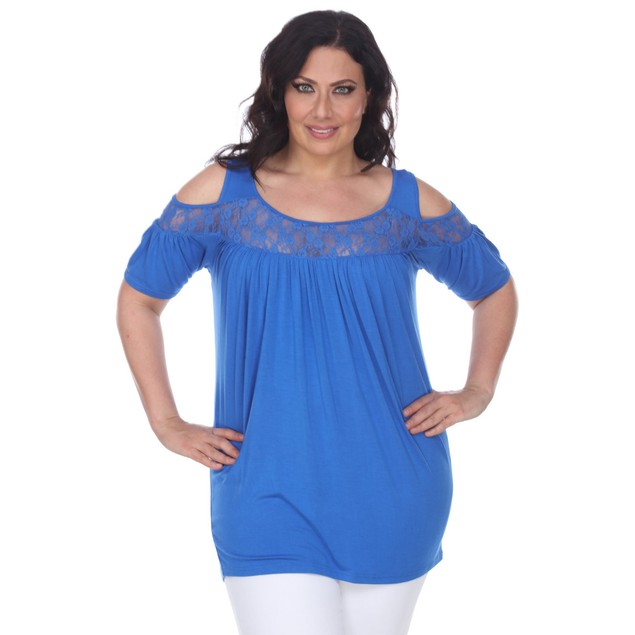 Women's Plus Size Bexley Cold Shoulder Tunic Top - 9 Colors