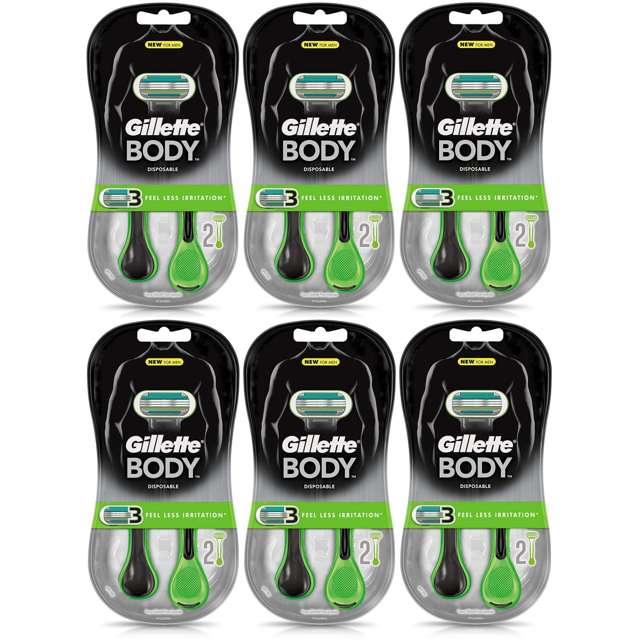 12-Count Gillette Body Disposable Razors
