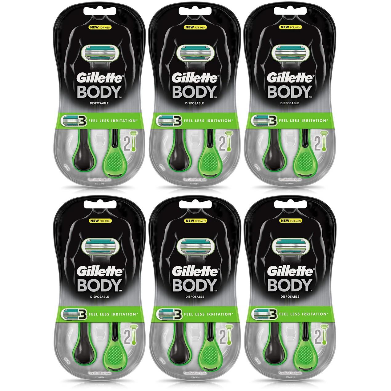 12-Count Gillette Body Disposable Razors