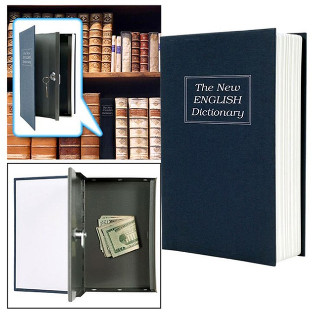 Dictionary Diversion Book Safe w/ Key Lock - Metal