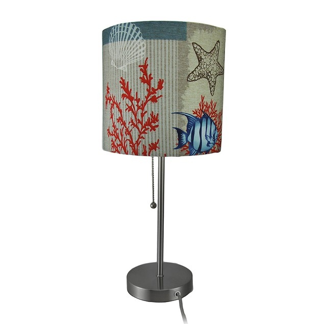 Colorful Sea Life Stainless Steel Accent Lamp Table Lamps