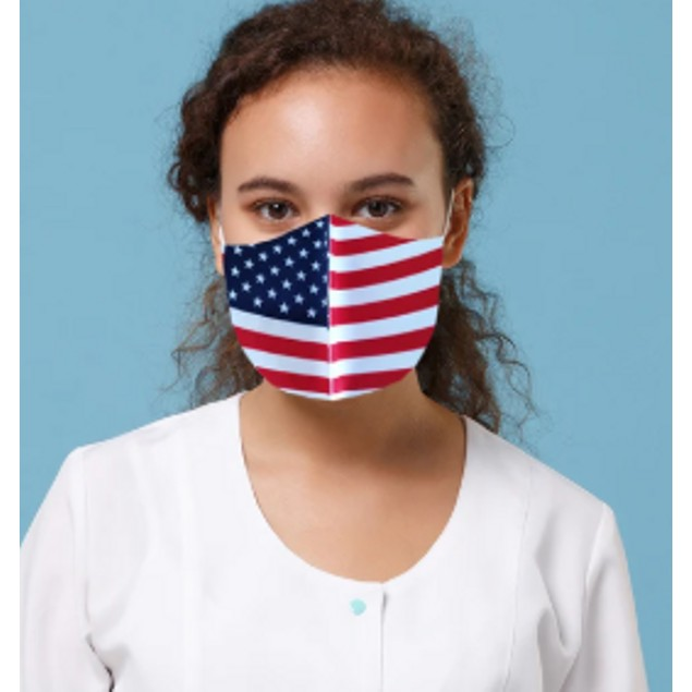 Reusable Non-Medical USA Flag Mask (5-Pack or 10 Pack)