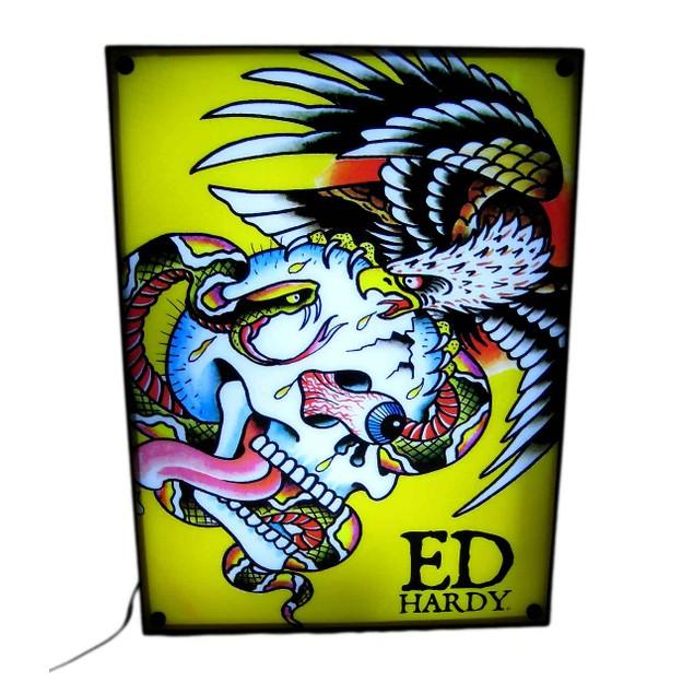 Licensed Ed Hardy `Battle` Light Box Dorm Decor Accent Lamps