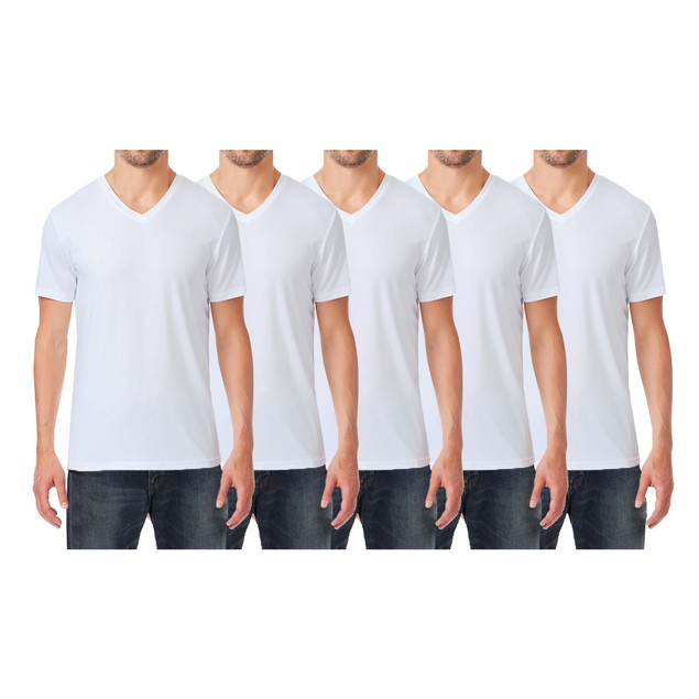 Mens Short Sleeve Cotton V-Neck Tees