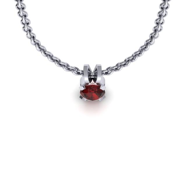 1.65cttw Oval-Cut Garnet Necklace & Earring Set In Sterling Silver