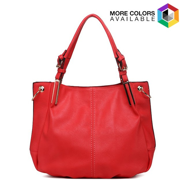 MKF Collection Abby Buckle Strap Shoulder Tote with Removable Strap