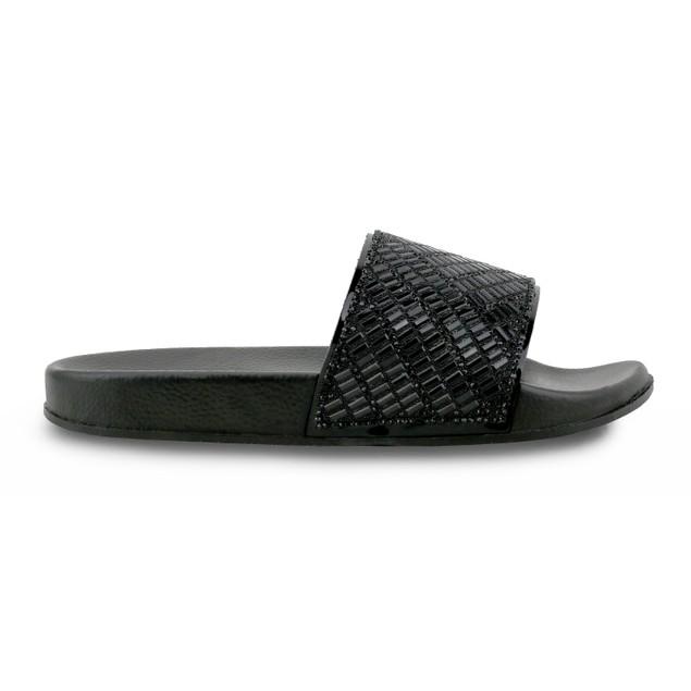 Olivia Miller 'Daytona' Multi Beaded Stone Pool Slide Sandals