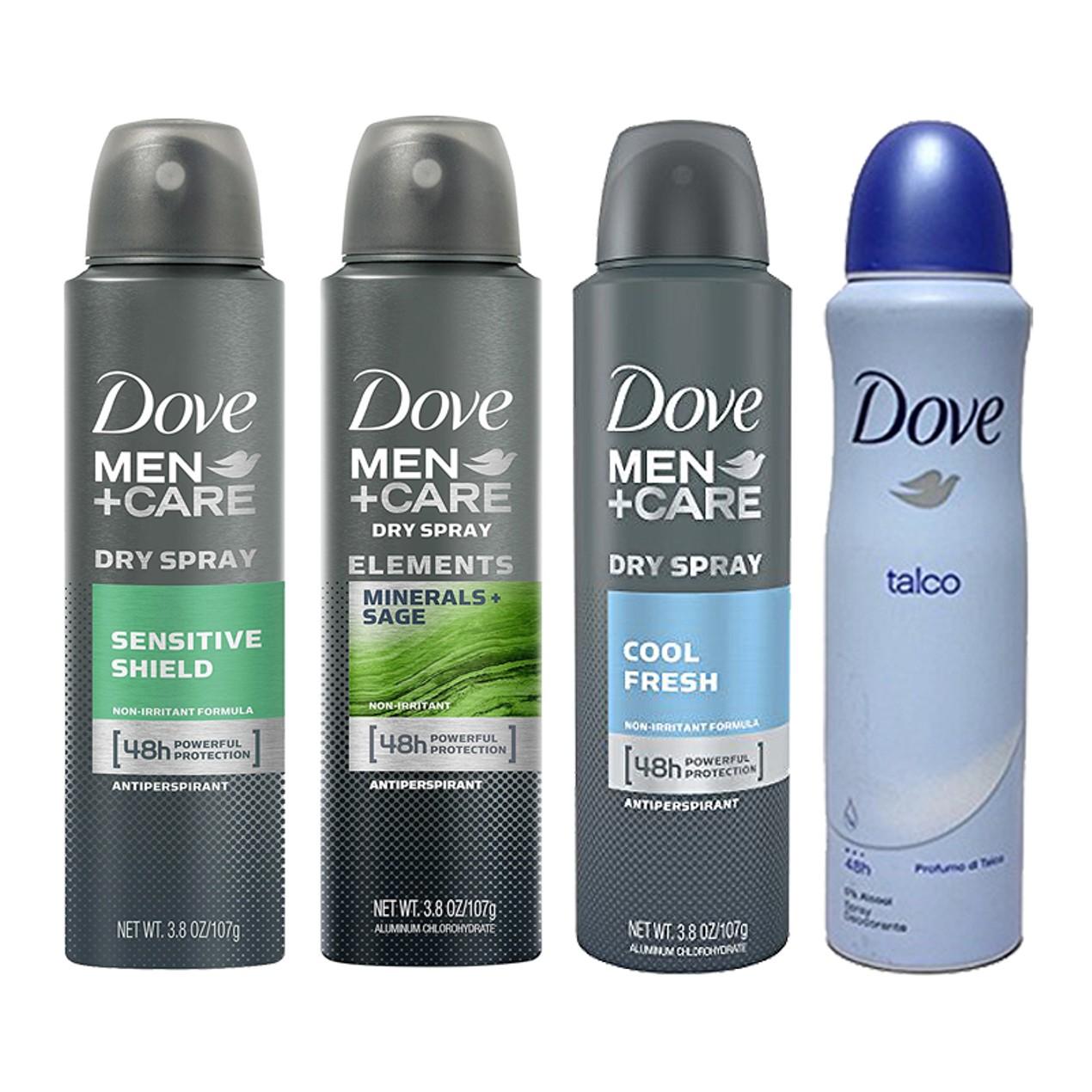 6 Pack Dove Men Comfort Spray Deodorant Antiperspirant Tanga