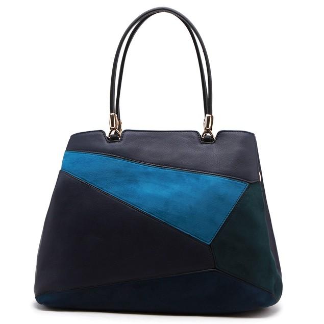 MKF Collection by Mia K. Nancy Color-Block Satchel Bag - 8 Colors
