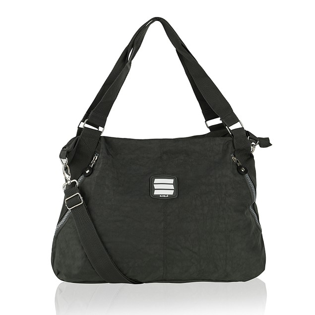 Suvelle Crinkle Nylon Large Crossbody Tote