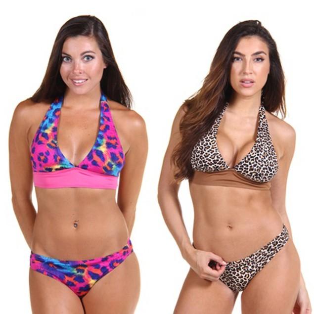 2-Pack Classic 2 Piece Bikini Swimsuits