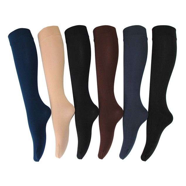 6 Pairs: Ultra Soft Fleece Lined Knee-High Socks