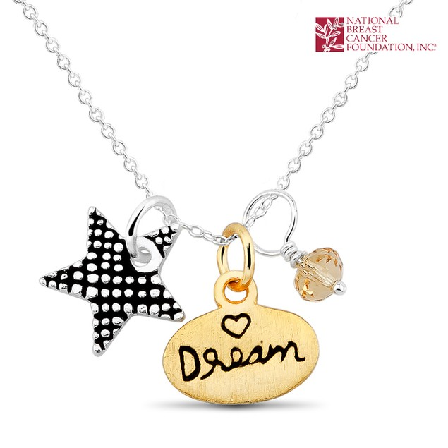 National Breast Cancer Foundation Inspirational Jewelry - Sterling Silver Dream Pendant