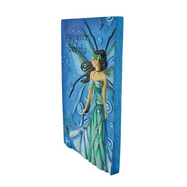 Jessica Galbreth `Live Your Dreams` Blue/Green Decorative Plaques