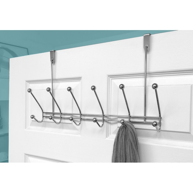 2 Pack: Stainless Steel Over The Door Hooks