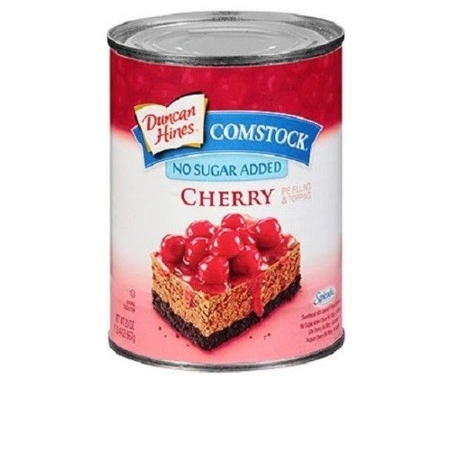 Duncan Hines Comstock No Sugar Added Cherry Pie Filling & Topping 21oz