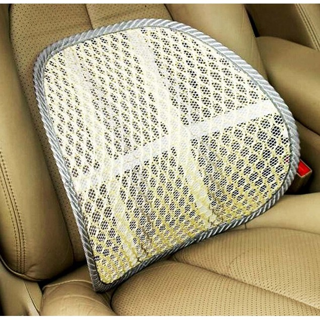 Zone Tech 2x Cool Mesh Car Chair Seat Beige Back Spine Lumbar Support