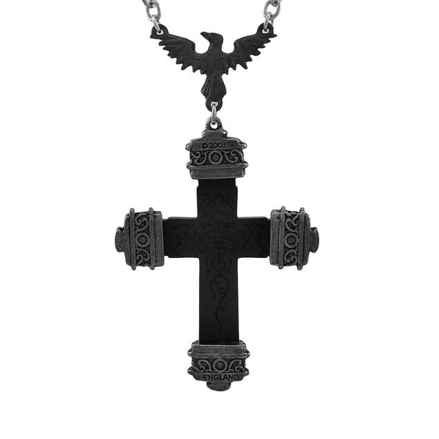 Alchemy Gothic Nevermore Raven Cross Pendant W/ Womens Pendant Necklaces
