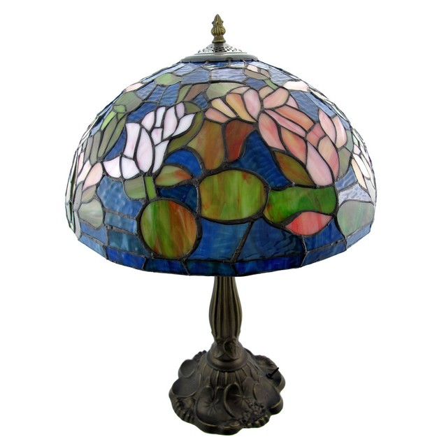 Stained Glass Floral Table Lamp 24 Inches Tall Table Lamps