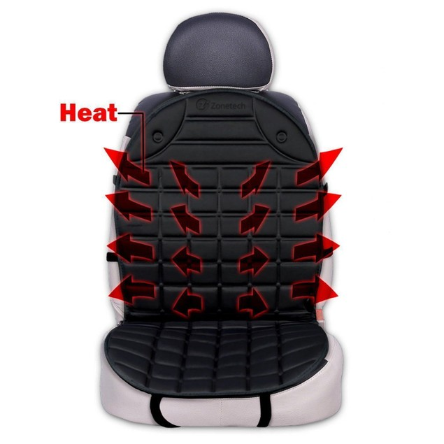 Zone Tech 1 New Thickening Heated Car Seat Heater Heated Cushion Warmer 12V