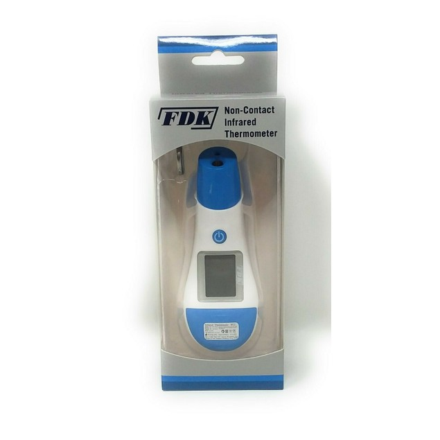 Non-Contact Infrared Forehead Thermometer 2 Color Backlight w/ LCD Display
