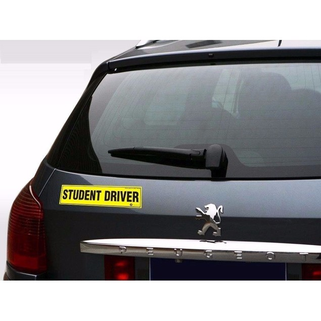 Zone Tech 3x Magnetic Student Driver Car Vehicle Safety Bumper Magnets