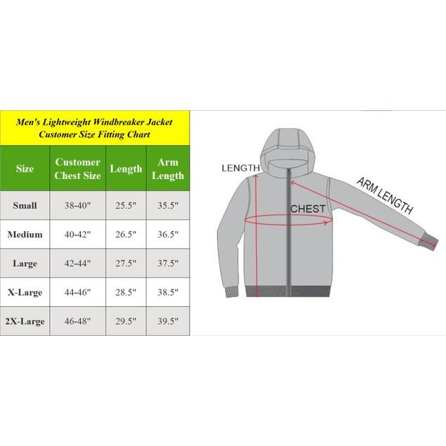 Men's Fleece-Lined Hooded Windbreaker Jacket (S-2XL)