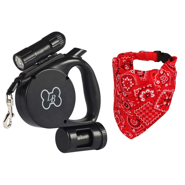 My Puppy Essential Combo Pack: Bandana Collar + 3-in-1 Retractable Leash