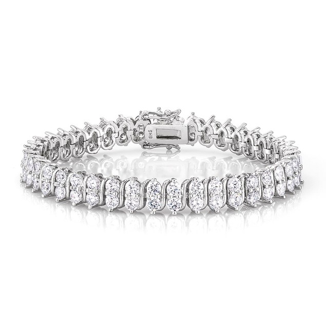 Classic Double Row Gold Plated Tennis Bracelet