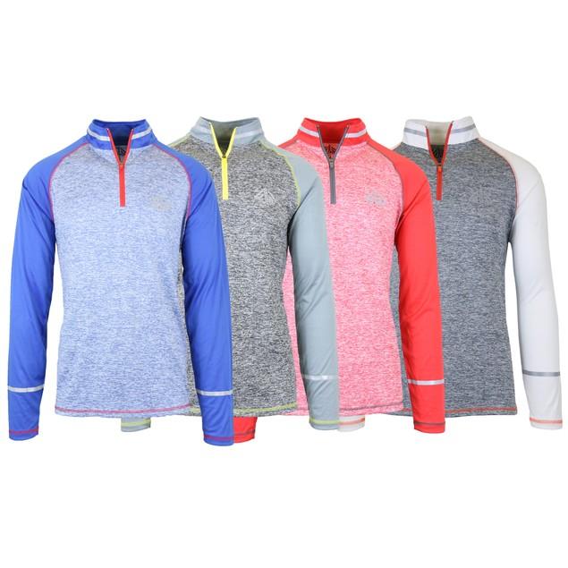 4-Pack Men's Moisture Wicking Zip Sweater w/ Contrast Sleeves
