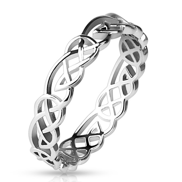 Tribal Knots Band Ring