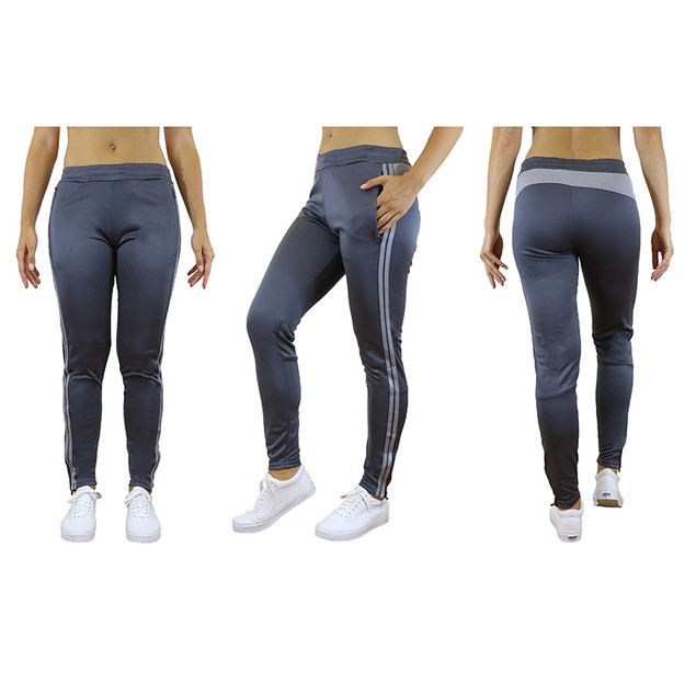 Women's Moisture Wicking Striped Track Joggers