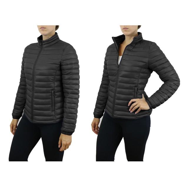 Spire By Galaxy Womens Lightweight Puffer Jackets - 2 Pocket Styles