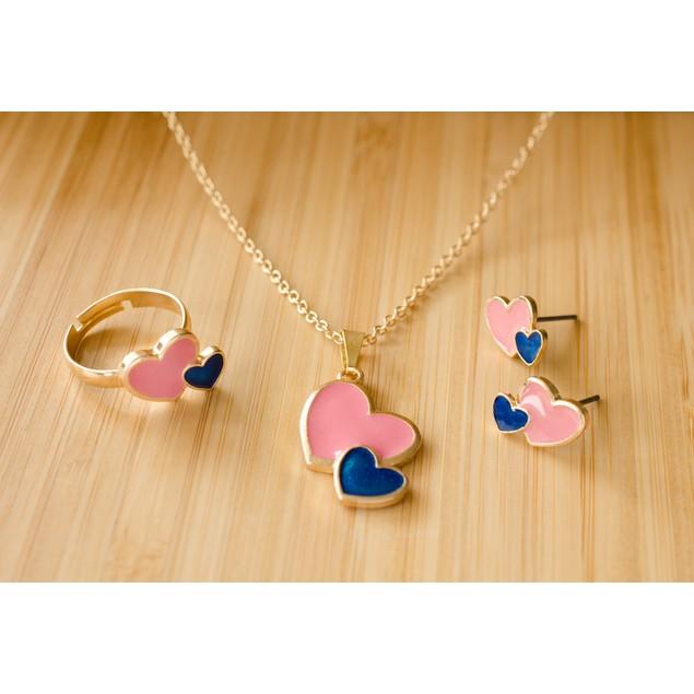 Girls Enamel Jewelry Set - 3 Styles