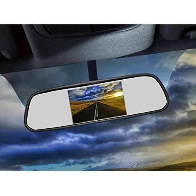 "Zone Tech 4.3"" TFT Car LCD Screen Rear Monitor View Rearview DVD AV Mirror"