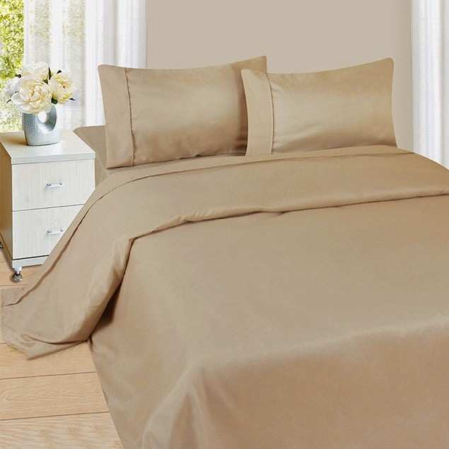 Lavish Home Series 1200 4 Piece Sheet Set - Taupe