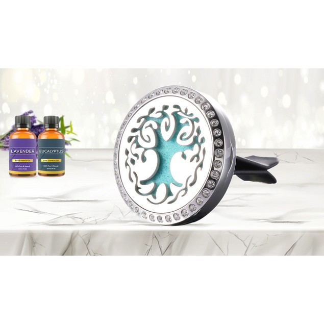Studded Aromatherapy Essential Oil Car Vent Diffuser with Two Optional Oils