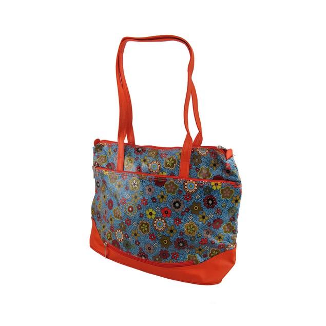 Hadaki Hannah's Tote Floral Swirl Print Oversized Womens Tote Bags